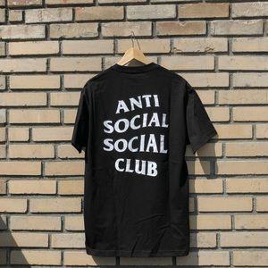 Anti social social club Black S/S